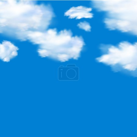 Illustration for Blue sky with clouds - Royalty Free Image