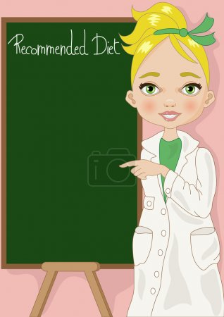 Nutritionist with Blackboard