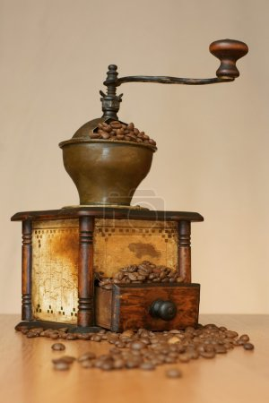 Old the coffee grinder