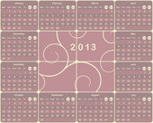 European calendar for 2013 year
