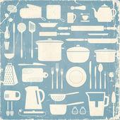 Kitchen silhouette set