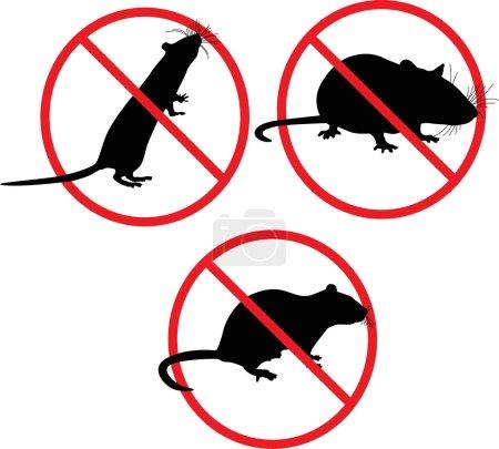 No rats. forbidden sign