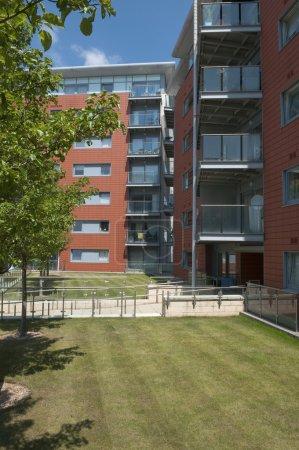 Modern block of flats UK