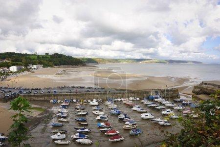 Low tide at Saundersfoot harbour