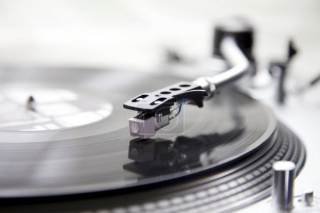 A record on a record player for a Dj in Club...