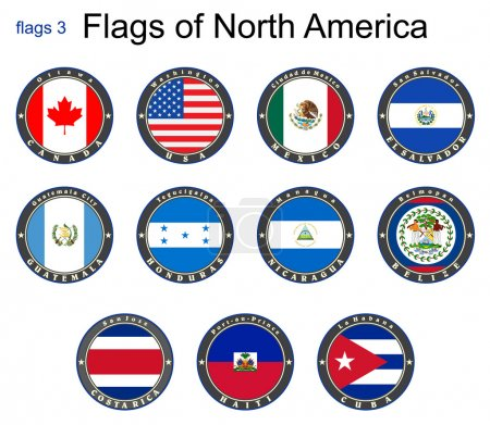 Flags of North America. Flags 3.