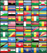 Elements design icons flags of the countries of Africa