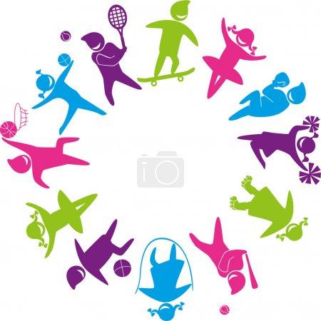 Illustration pour Ensemble d'icônes - monde du sport. Illustration vectorielle . - image libre de droit