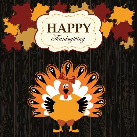 Turkey on the wood background