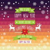 Plakát veselé christmas.typography.vector ilustrace