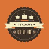 Plakát, je to vždy čas kávy