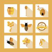 Legen Sie Honig Abzeichen und Etiketten