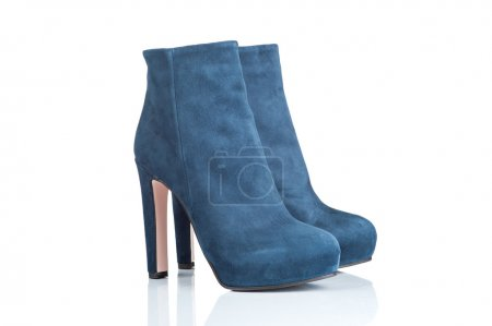 pair of female high heel boots