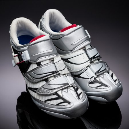 Pair of road cycling shoes