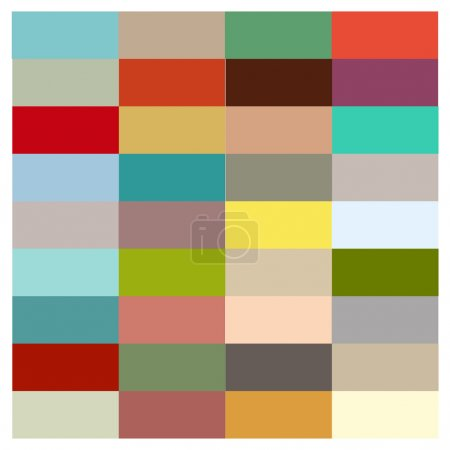 Illustration for Colorful palette - Color Scheme design, based on a selection of a good combination of colors - Royalty Free Image