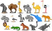 Set of vector African animals