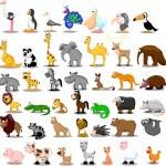 Extra large set of animals including lion, kangaro...