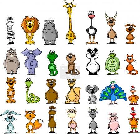 Photo pour Caricature d'animaux . - image libre de droit