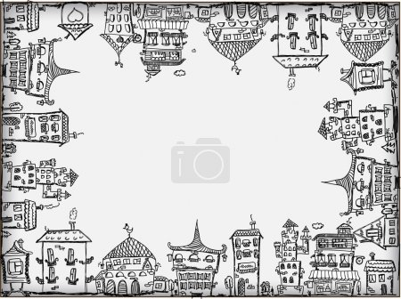 Illustration for Art houses for your design - Royalty Free Image