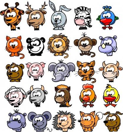 Photo for Cartoon vector animals - Royalty Free Image