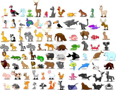 Illustration for Extra large set of animals - Royalty Free Image