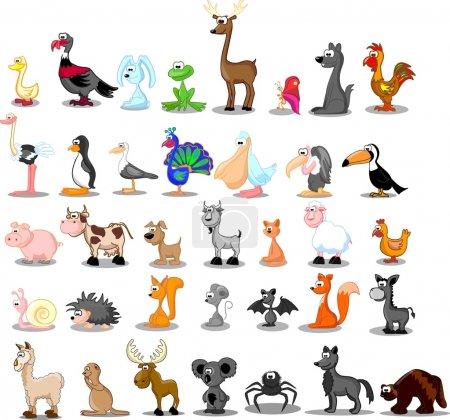 Photo pour Extra grand ensemble d'animaux - image libre de droit