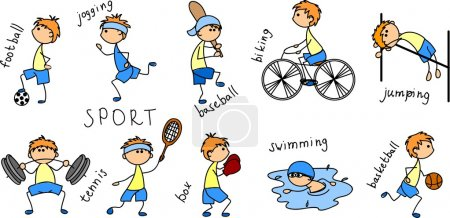 Photo pour Icône de sport de dessin animé - image libre de droit