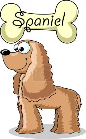 Cartoon dog breed Cocker Spaniel