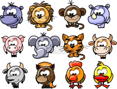 Illustration for Cartoon vector animals - Royalty Free Image