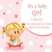 Vector illustration of baby girl background