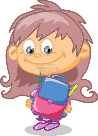 Schoolgirl with bag