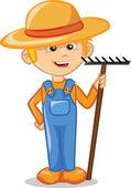 Cartoon character of cute farmer