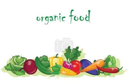 Cartoon vegetables, background