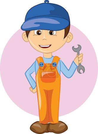 Cartoon character worker