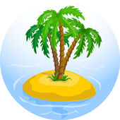 Palm trees in the ocean