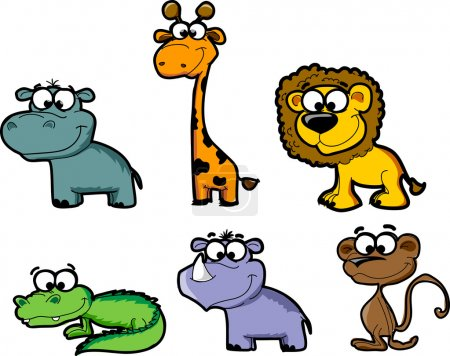 Set cartoon animals
