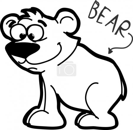 Illustration for Cartoon bear - Royalty Free Image