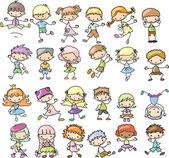 Set cartoon childrenset cartoon children