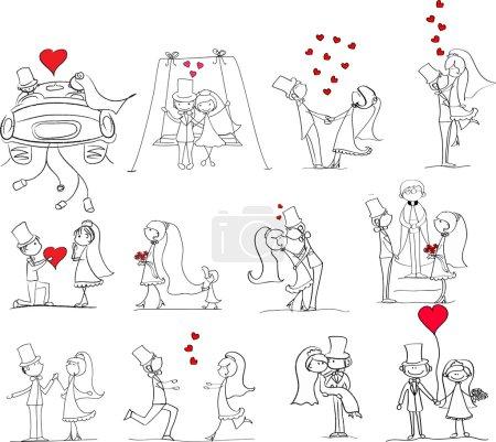 photos de mariage de bande dessinée