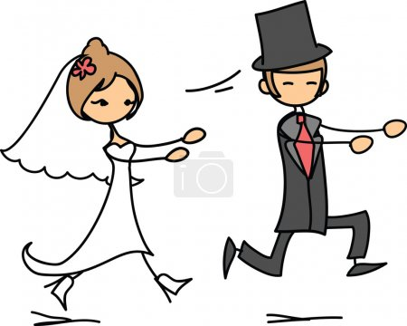 Wedding picture of bride and groom