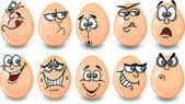 Cartoon easter eggs happy easter