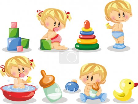 Cartoon baby and children's accessories