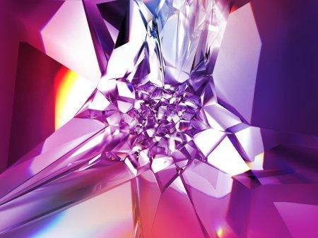 Beautiful trendy purple pink multicolored crystal ...