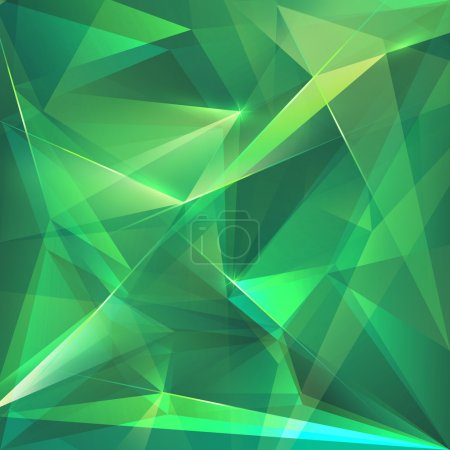 Abstract trendy emerald green crystal background