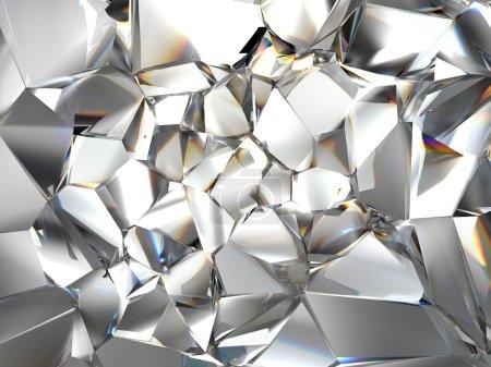 Photo pour Fond cristallin clair abstrait - image libre de droit