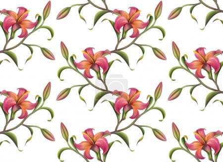 Tropical flower pattern background