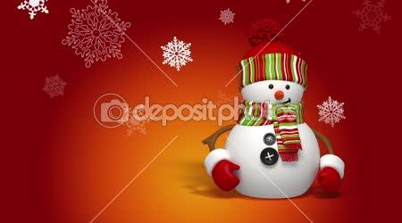 Vánoční sněhulák pozdrav pozadí