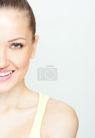 Photo pour Belle femme avec une peau parfaite et le visage - image libre de droit