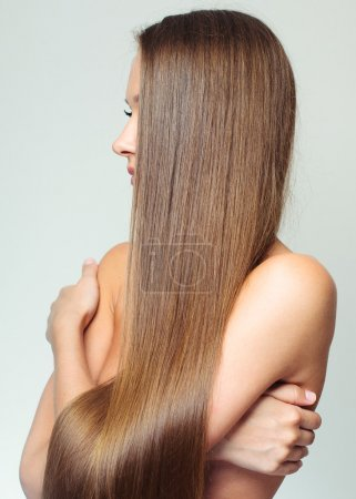 Woman with Healthy Long Hair