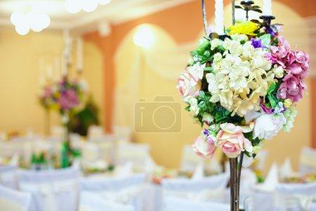 Wedding, event decor of restaurant interior